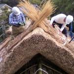 屋根上合掌の納め施工
